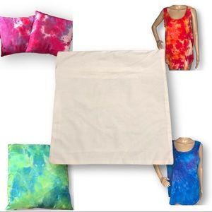 Custom tie dye immersion dye square pillow cover